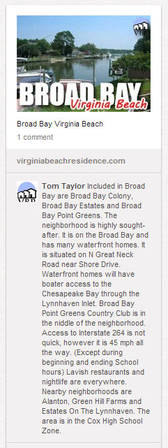 Pinterest Board - Virginia Beach Neighborhooods